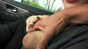 You just had to pull over to give her a creampie